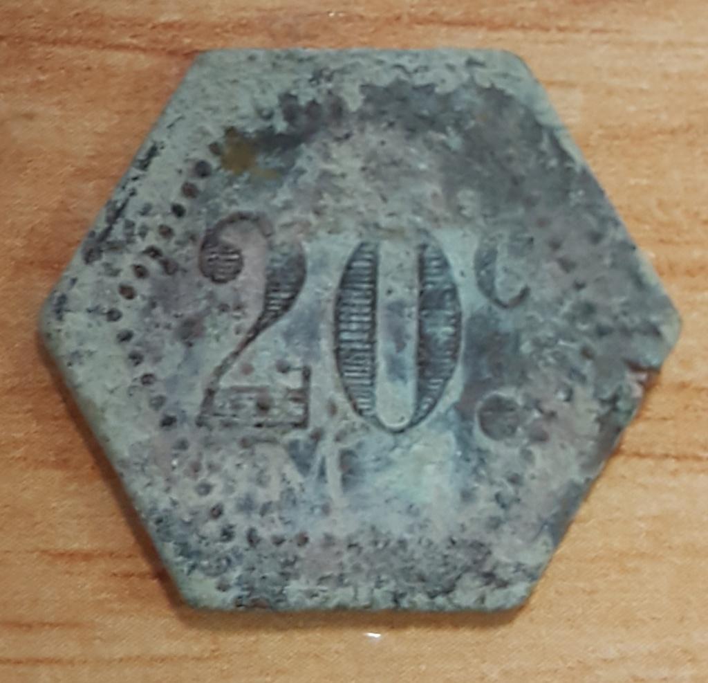Ayuda a identificar una moneda o ficha que pone 20 centimos 20200210