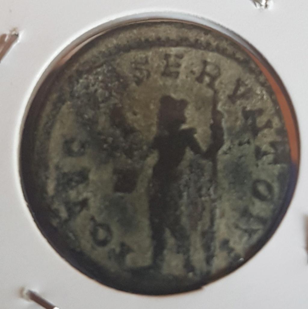 Aureliano de Diocleciano. IOVI CONSERVATORI. Júpiter a izq. Lyon 20200421
