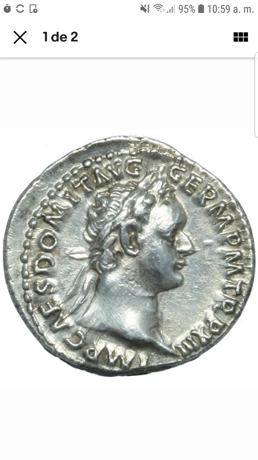 Denario de Domiciano. IMP XXII COS XVI CENS P P P. Minerva a izq. Roma Sc10