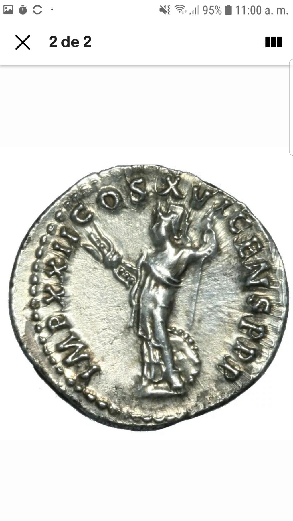 Denario de Domiciano. IMP XXII COS XVI CENS P P P. Minerva a izq. Roma Screen12