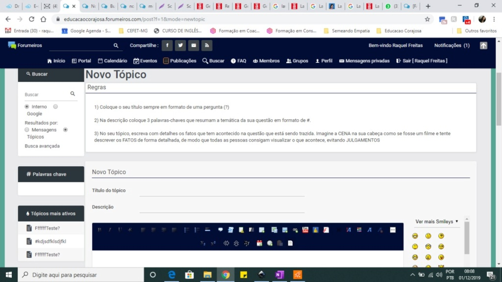 As Regras e a Descrição do Tópico não aparecem na versão Mobile Whatsa10