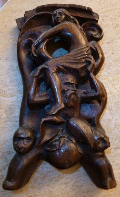 Sculpture bois influence polynésienne signée AM Sculpt10