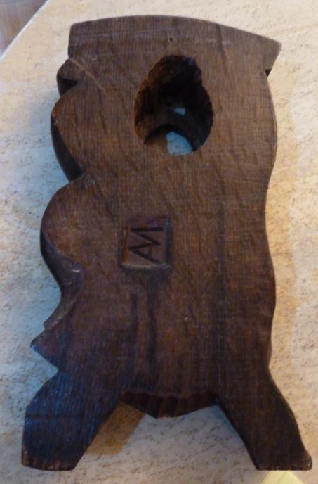 Sculpture bois influence polynésienne signée AM Sculpt11