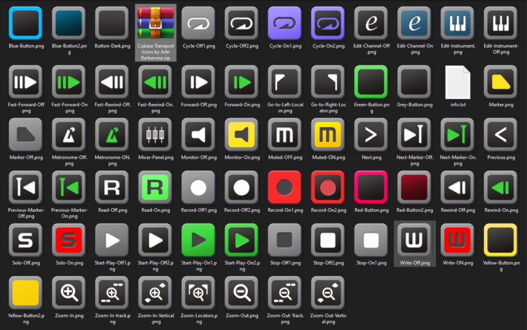 Free Cubase Icons for Streamdeck Icons11