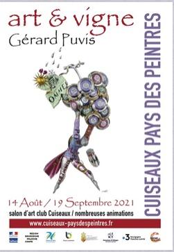 Du 14 août au 19 septembre : exposition Art et Vigne  Cuiseaux Pays des Peintres (71) Affich11