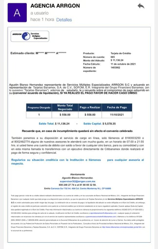 ????????URGE AYUDA HOY 11 OCTUBRE  ARRGON SERVICIOS MÚLTIPLES Ayuda para validar carta convenio  Ad626310