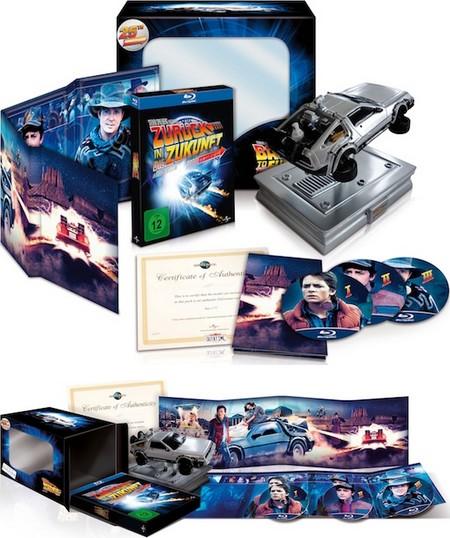 """Coffret Trilogie """"Retour vers le futur """"Blue-ray édition collector Collec10"""
