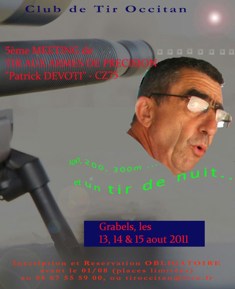 """Grabels Meeting Tir de précision 2011 Patrick DEVOTI - CZ75"""" Affich13"""