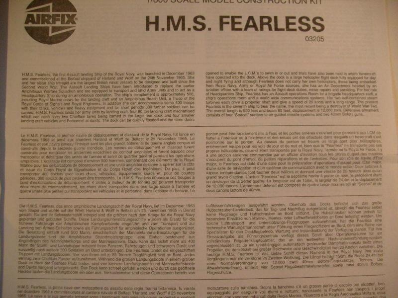 HMS Fearless au 1/600 eme - Airfix C10