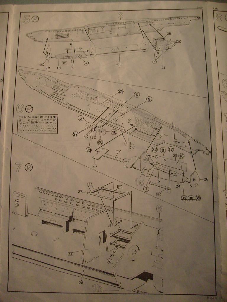 [Revell] U boat U 47 avec interieur au 125 eme S7304664