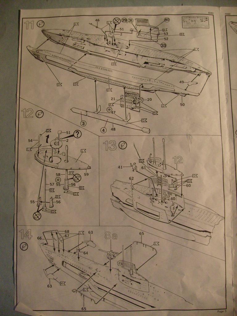 [Revell] U boat U 47 avec interieur au 125 eme S7304666