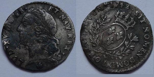 1/20 ème d' Ecu au Bandeau, Louis XV 1743 O Lvd_xv12