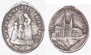 Médaille sanctuaire Notre Dame de la Salette Medail10