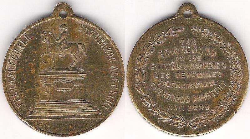 médaille commémorative du Maréchale Archiduc Albrecht .1899 Medail11