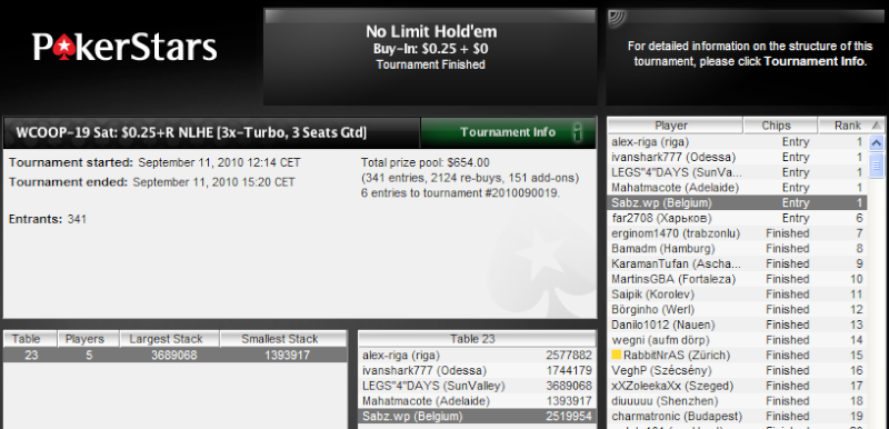 Ticket WCOOP-19 6ers_s10