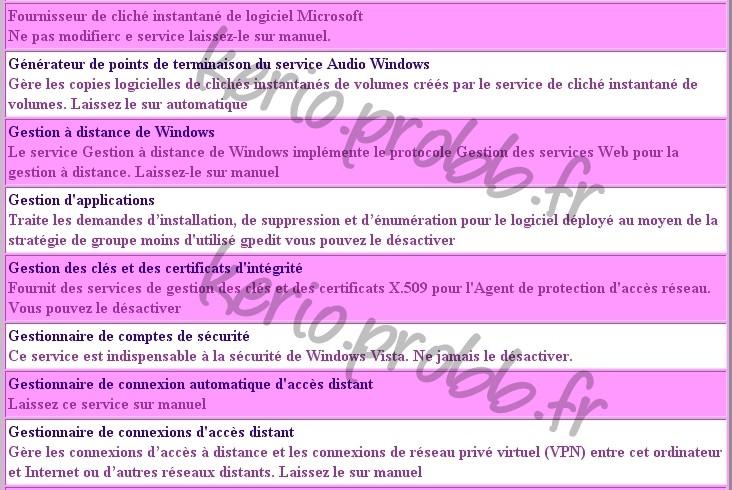 Régler les services Windows 2000, XP et Vista Ssvist16