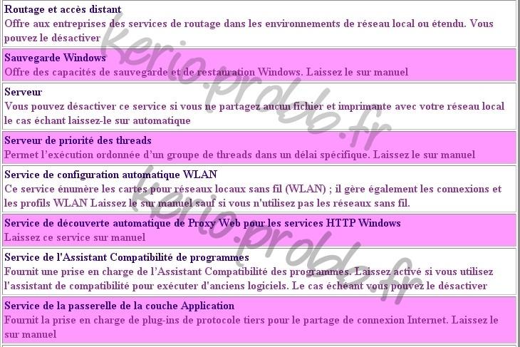 Régler les services Windows 2000, XP et Vista Ssvist22