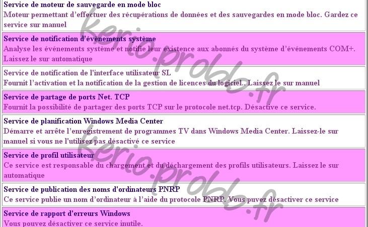 Régler les services Windows 2000, XP et Vista Ssvist23