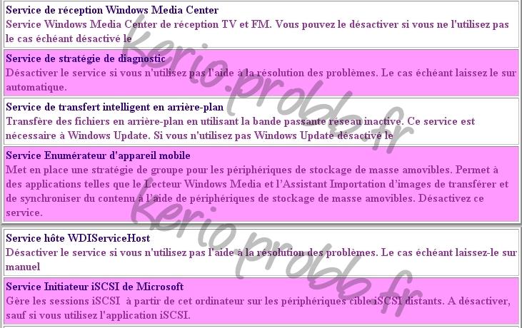Régler les services Windows 2000, XP et Vista Ssvist24