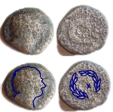 Moneda romana o griega con láurea ? Restow10