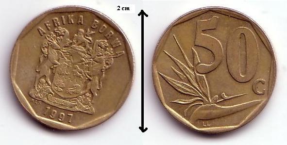Sudafrica, 50 cents, 1997 Afrika10