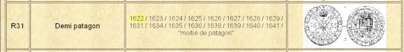 1/32 Patagon o Gros de Felipe IV Auxib10