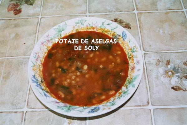 POTAJE DE ASELGAS DE LA ZONE ESPAGNOLE Potage10