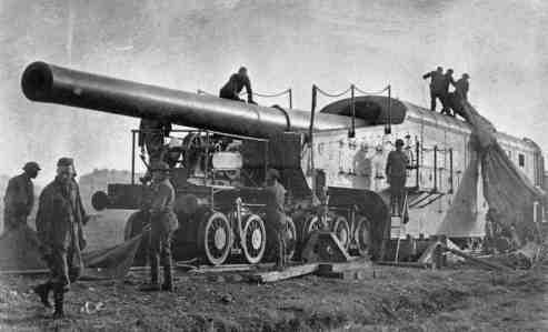 L'Artillerie Lourde sur Voie Ferrée 356m1910