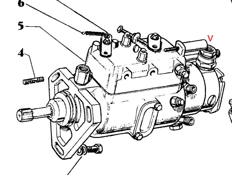 Massey 140 Purge Pompe Injection
