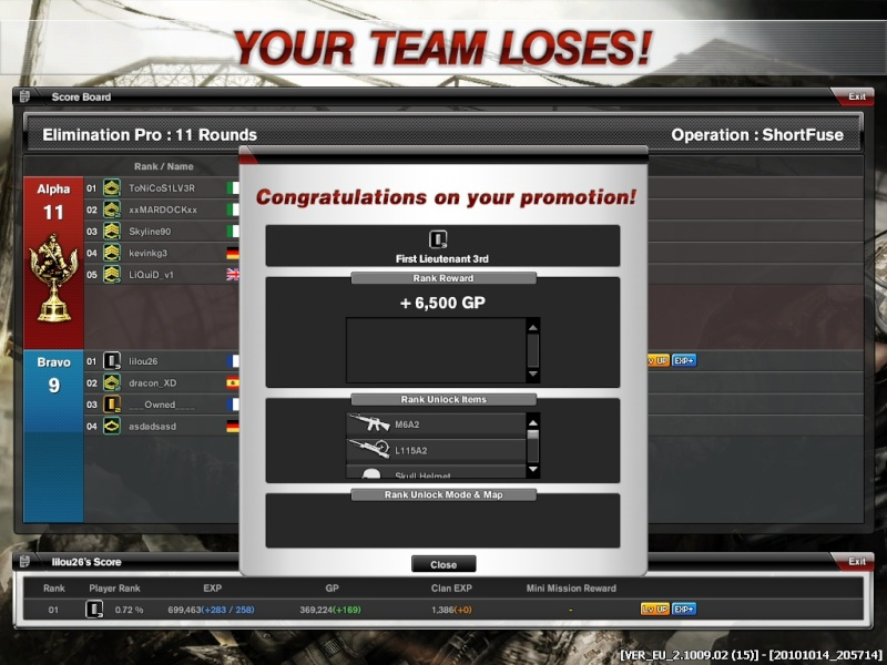 Lilou 1 LT3 ! lvl up Combat10