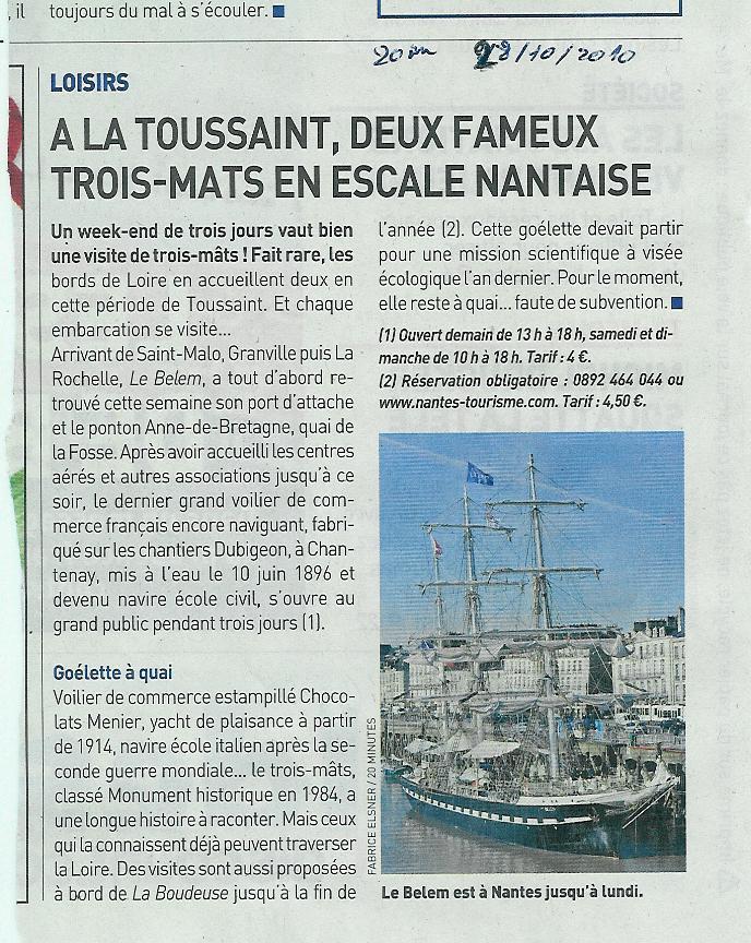 Des grands voiliers dans le port de Nantes Belem10