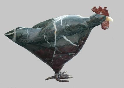 Poule ( Marbre) P1000618