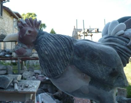 Le Coq en cours (Marbre) P1000631