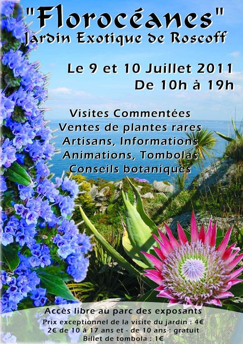 """Jardin Exotique de Roscoff """"Les Florocéanes"""" Affich10"""