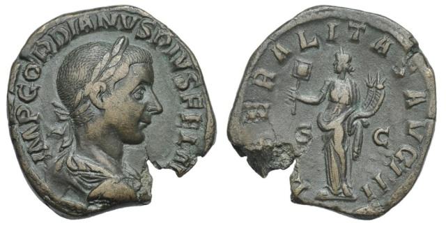 La 3e libéralité de Gordien III Sester11