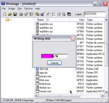 طريقة إقلاع الحاسوب من الفلاش مامورى Wimage16