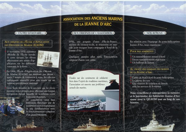 [ Associations anciens Marins ] Association des anciens de la Jeanne d'Arc section Ouest Numeri11