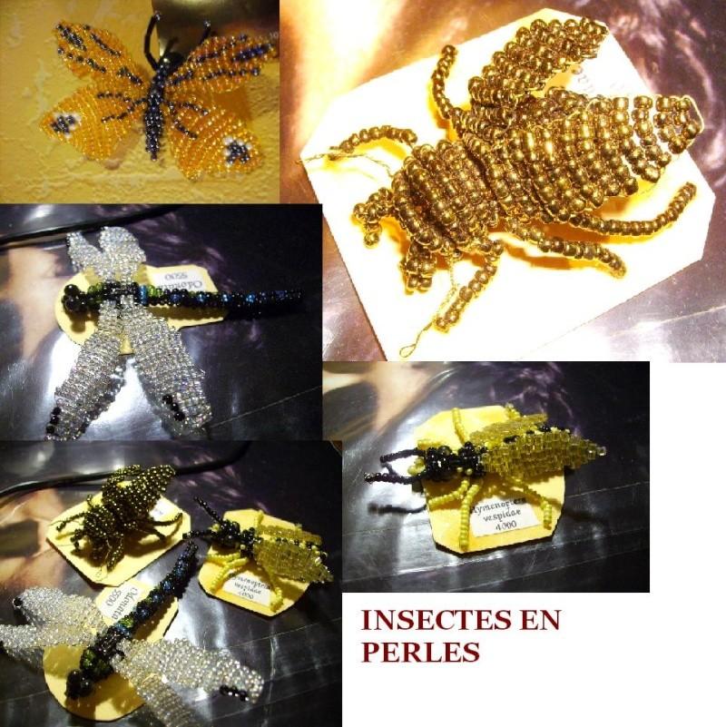Créations autour des insectes Perles10