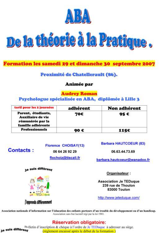 dpt 86 :formation ABA de 2 jours 29/30 septembre Septem10