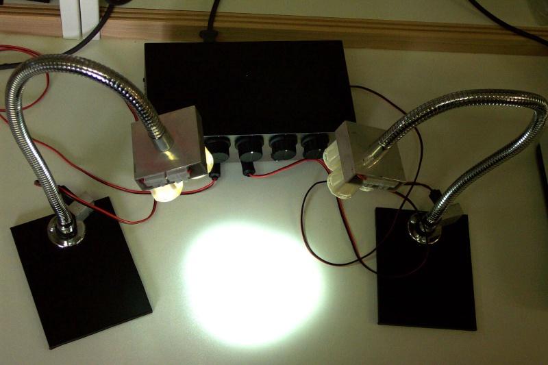 Eclairage annulaire à LEDS pour macro-photo Luxeon10