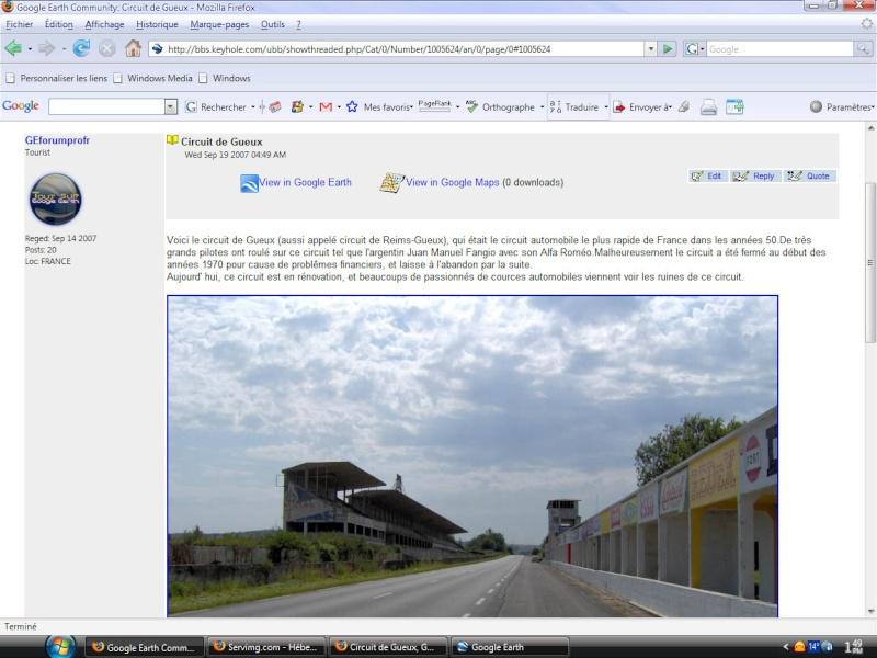 Insérer des images dans la Google Earth Community. Bbs310