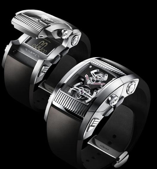 On voit ici et là des montres à moteurs mixtes Hd310