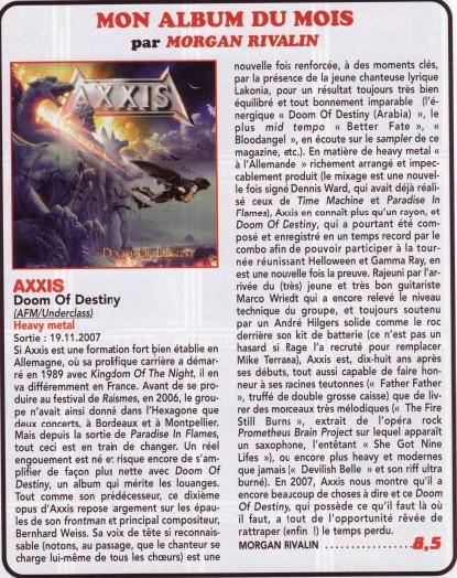 AXXIS doom of destiny Articl10