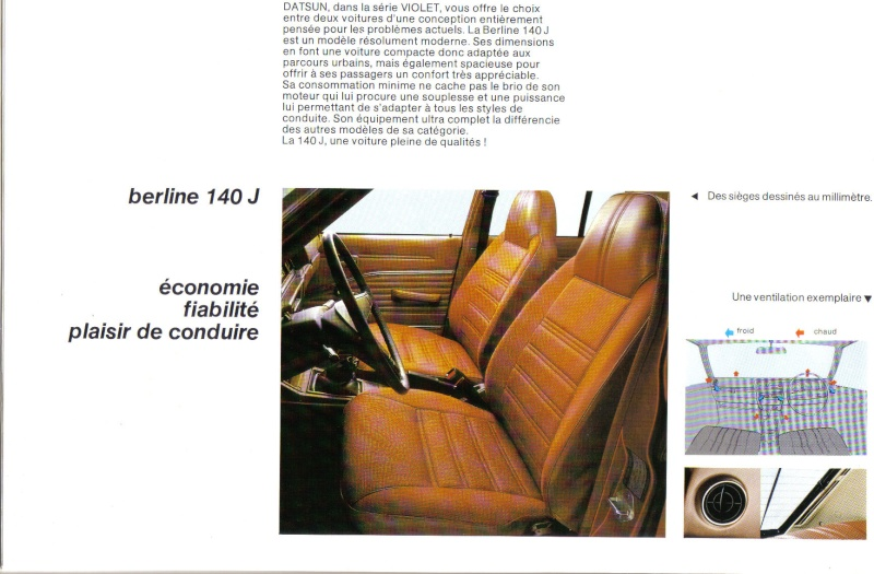 Topic officiel DATSUN VIOLET 140J & 160JSSS type LA10/PA10  1978_p11