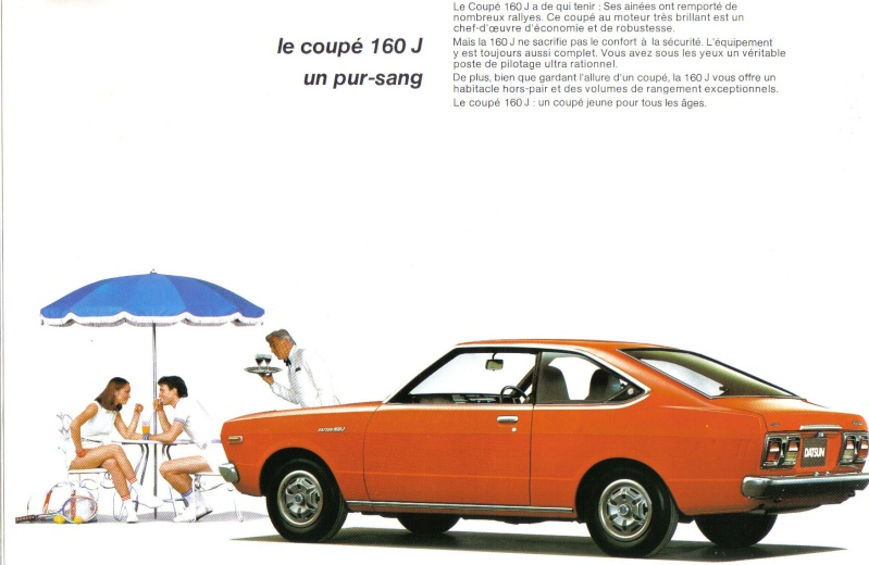 Topic officiel DATSUN VIOLET 140J & 160JSSS type LA10/PA10  1978_p13