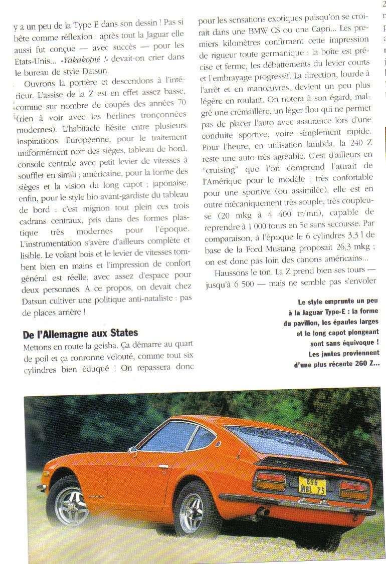 Topic officiel DATSUN 240Z Auto_r38