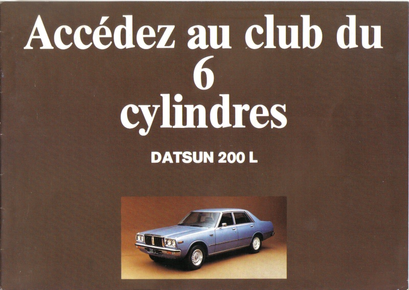 Topic officiel DATSUN LAUREL 200L & 240L Datsun35