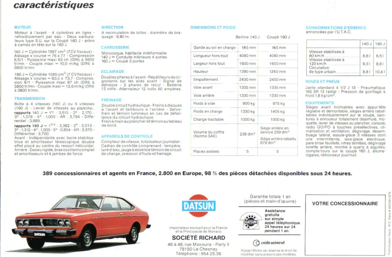 Topic officiel DATSUN VIOLET 140J & 160JSSS type LA10/PA10  Doc_vi17