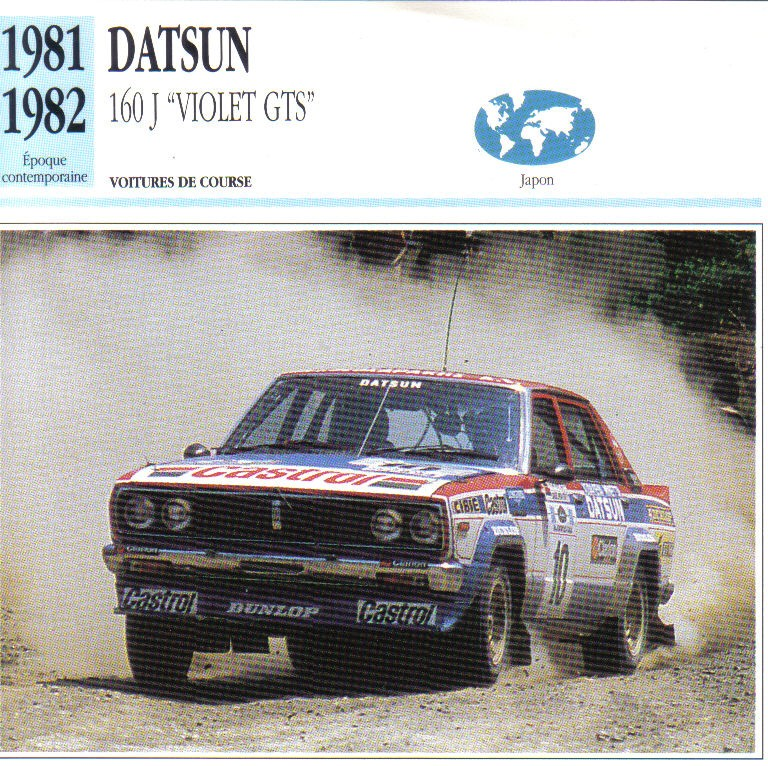 Topic officiel DATSUN VIOLET 140J & 160JSSS type LA10/PA10  - Page 2 Violet24