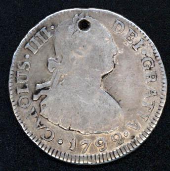 2 reales, Carlos IIII, 1792 ceca Nueva Guatemala [WM n° 8197] 1792_a10